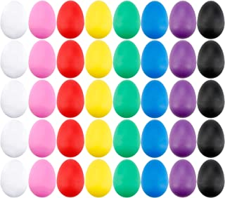 40 Pieces Plastic Egg Shakers Percussion Musical Egg Maracas with 8 Different Colors for Kids Toys Music Learning DIY Painting