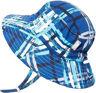 JAN & JUL Boys Aqua-Dry UV Sun Protection Swim Hat, Adjustable Straps, for Baby, Toddler, Kids