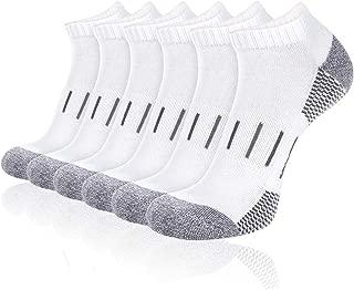 Heatuff Mens Athletic Ankle Socks Moisture Wicking Cushion Running Low Cut Sock 6 Pack
