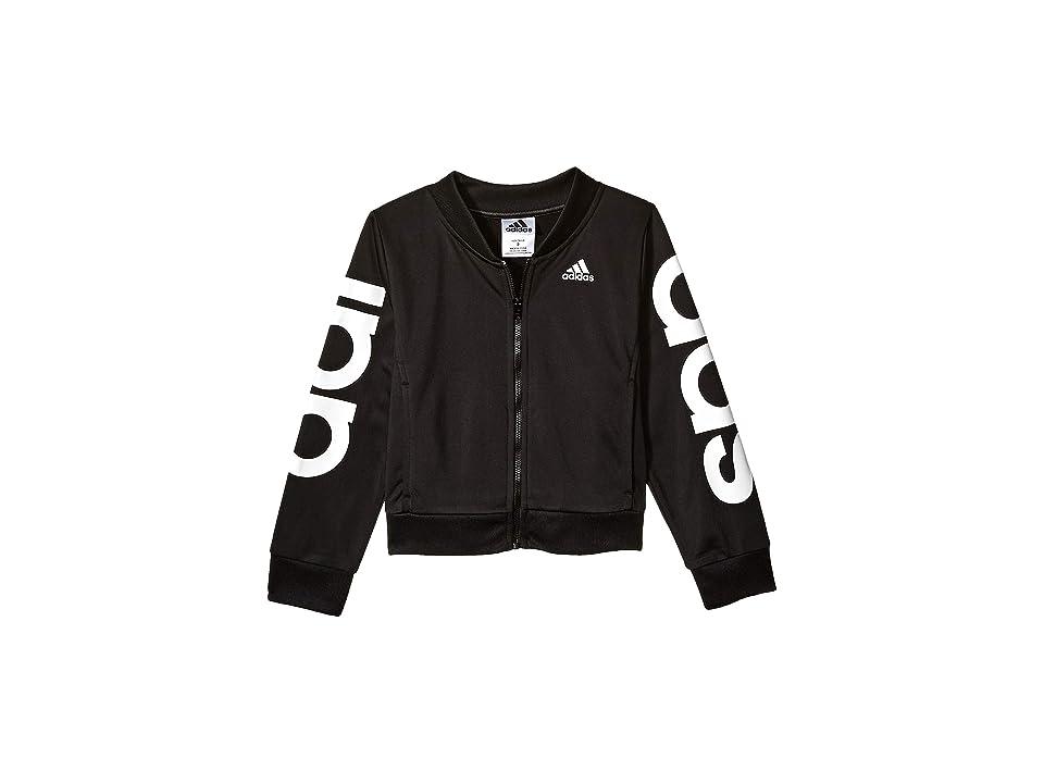 adidas Kids Cropped Adi Bomber Jacket (Big Kids) (Black) Girl