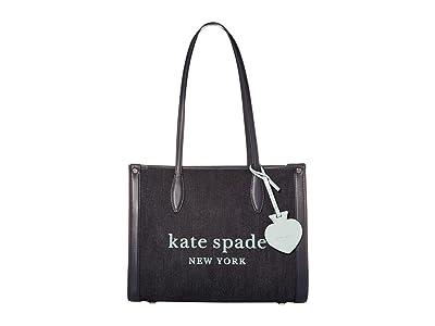Kate Spade New York Market Denim Medium Tote (Dark Denim) Handbags