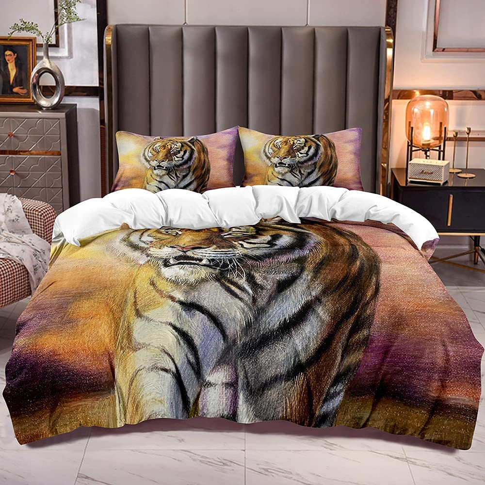Tiger Duvet Cover Sets Queen Microfiber Soft 2 Sale SALE% OFF with Max 48% OFF Pillowshames