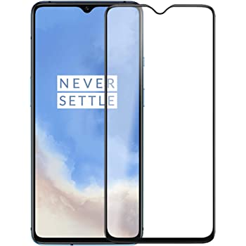 CASE U Full Glue Tempered Glass for OnePlus 7T, Edge to Edge Full Screen Coverage with Easy installation kit - Black