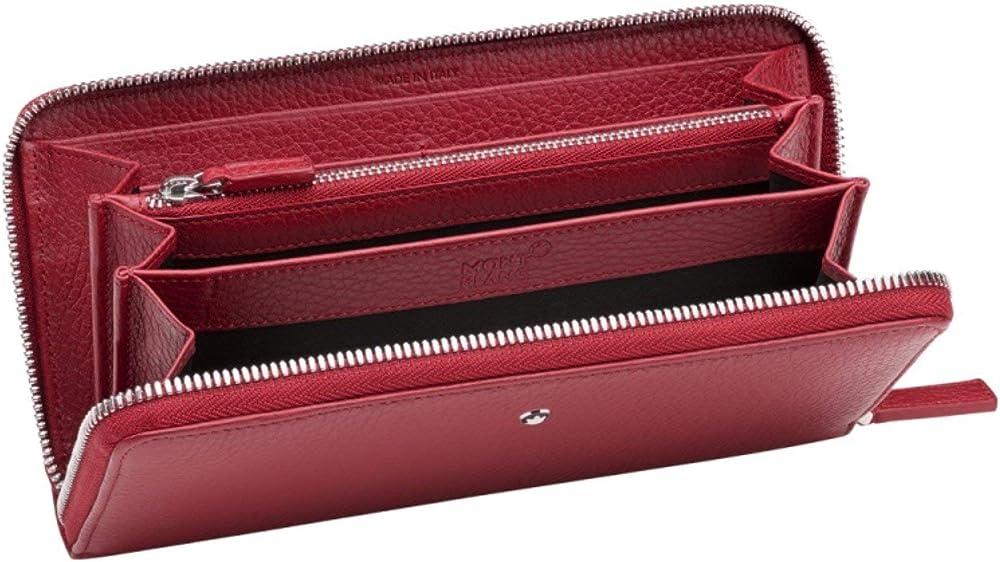 Montblanc, portafoglio lungo , 8 scomparti, porta carte di credito, in vera pelle 116972