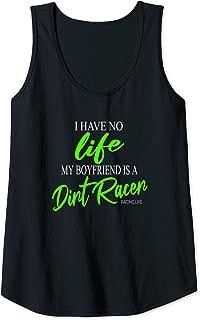 Womens Dirt Track Racing Shirts Girlfriend Racing Gifts Tank Top