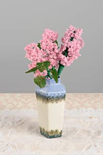 Handmade Vase With Flowers Beaded Artificial Flowers Cute Interior Decor