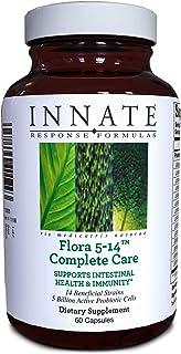 INNATE Response Formulas, Flora 5-14 Complete Care, 5 Billion CFU Probiotic, Vegan, Non-GMO, Gluten Free, 60 Capsules (60 ...