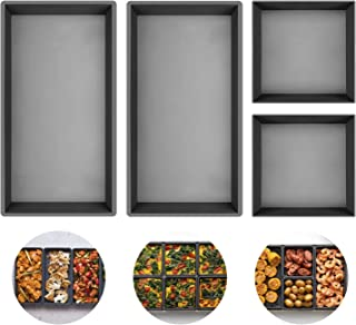 Nonstick Silicone-Baking-Pans, Sheet Pan Cooking Reimagined, Silicone Bakeware Set Baking Gifts, Non-Stick Baking Tray Cookie Sheet Bread Pan, Baking Accessories and Tool Kitchen Supplies (4 Packs)