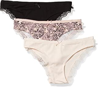 Jessica Simpson Women's Cotton Bikini Panties Underwear Multi-Pack