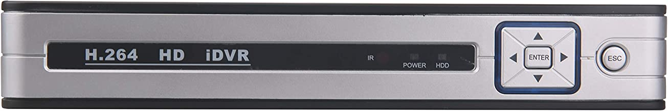 4-Channel POE NVR 1080P Network Video Recorder - Supports Recording 4CH Up to 2-Megapixel IP Cameras, 4CH Power Over Ethernet, Supports up to 6TB HDD (Not Included)