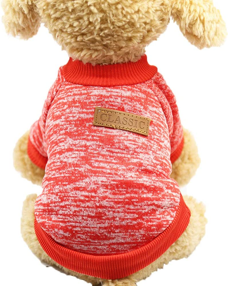 hbz11hl Dog Clothes Winter Super-cheap Warm Kansas City Mall Woolen Sweater Yarn Pullover