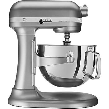KitchenAid RKP26M1XSL Professional 600 6-Qt. Bowl-Lift Stand Mixer, Renewed