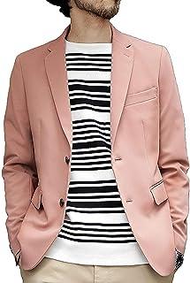 メンズ ジャケット ビジネスカジュアル 春夏 おしゃれ スーツジャケット スリム ファッション