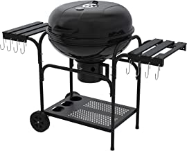 YITAHOME BBQ Charcoal Grill 22-inch, Outdoor Grill with Side Shelf for Barbeque Patio Backyard Picnic Camping Hiking Cooki...