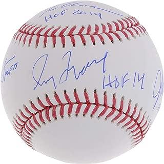 Tom Glavine, Chipper Jones, Greg Maddux and John Smoltz Atlanta Braves Hall of Famers Autographed Baseball with HOF Inscriptions - Fanatics Authentic Certified