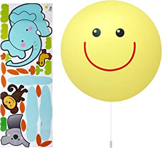 Opus Kids Smiling Sun Sticker LED Wall Light - Battery Operated