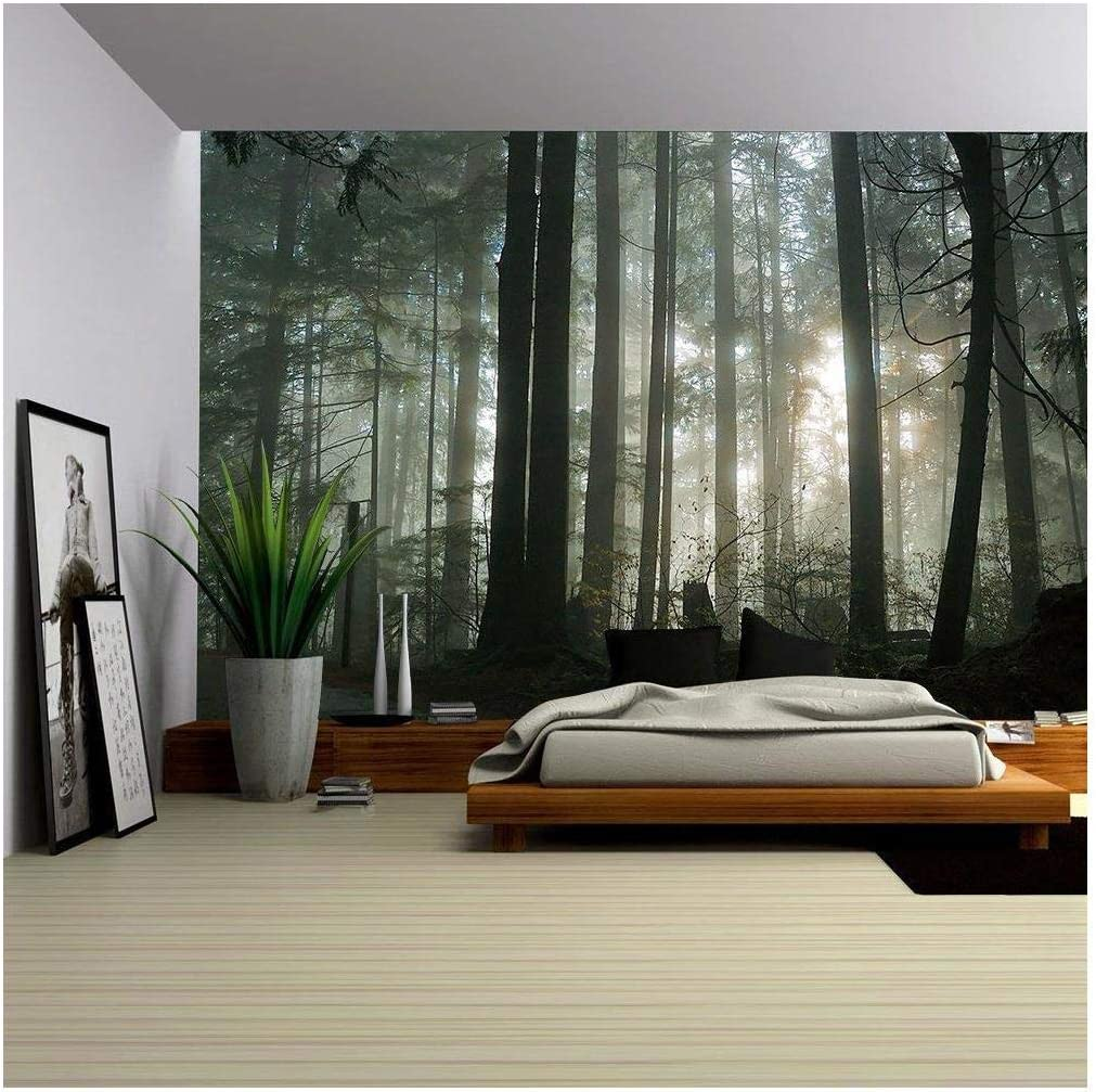 Amazon Com Wall26 Foggy Forest Removable Wall Mural Self Adhesive Large Wallpaper 100x144 Inches Everything Else