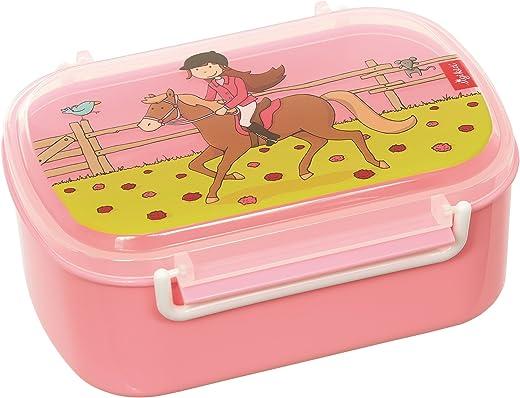 SIGIKID 25006 Brotzeitbox Gina Galopp Lunchbox BPA-frei Mädchen Lunchbox empfohlen ab 2 Jahren rosa