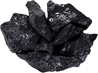 Hypnotic Gems Materials: 1 lb Shungite Stones for Water Purification - 4-6 cm Size - Bulk Rough Natural Raw Shungite from Russia for Wicca, Reiki, and Energy Crystal HealingWholesale Lot