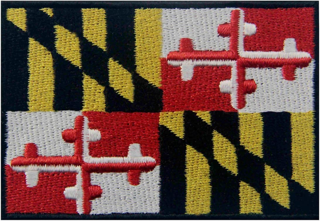 Maryland State New product! New type Flag Embroidered MD On Very popular Sew Iron Patch Emblem