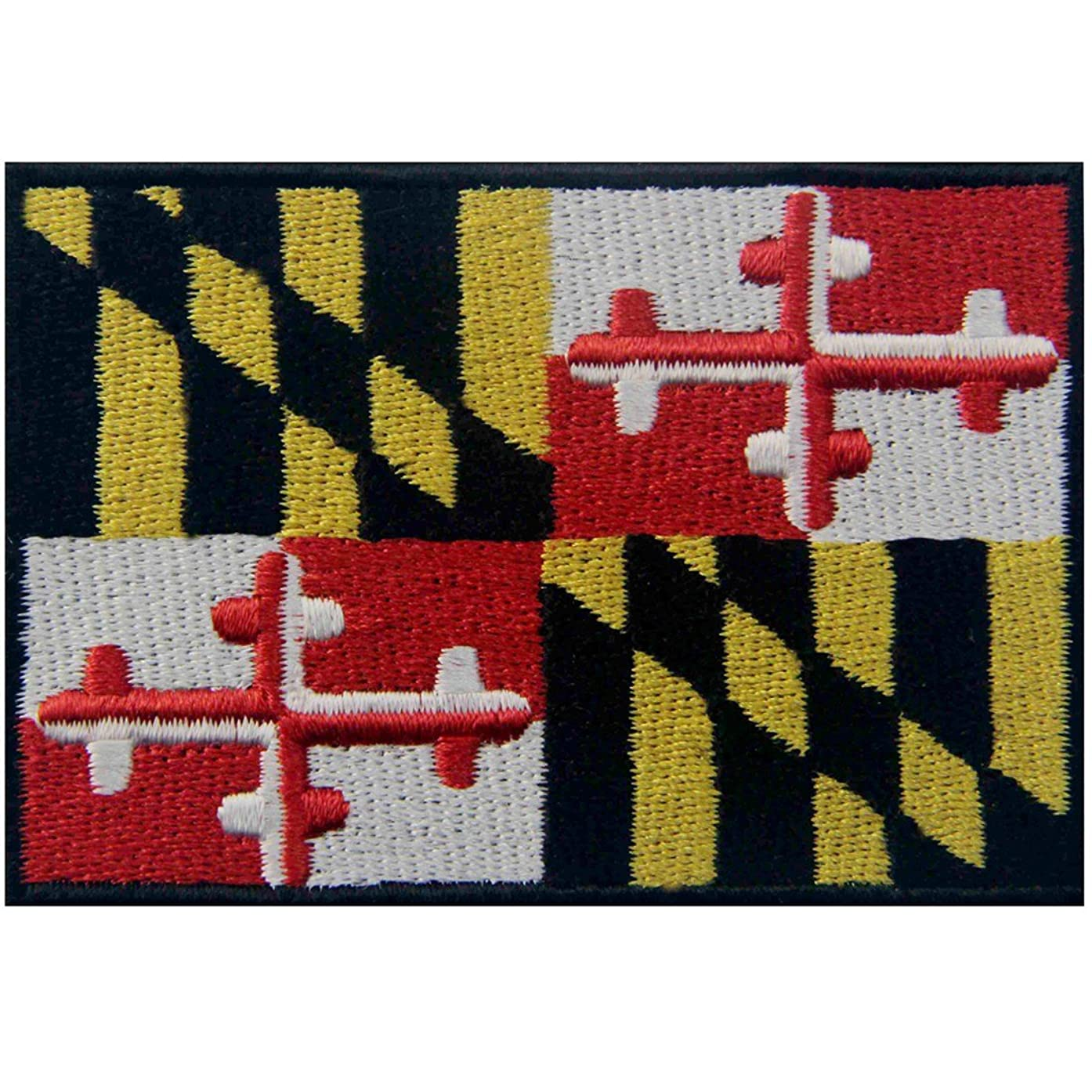 Maryland State Flag Embroidered MD Patch Iron On / Sew On Emblem