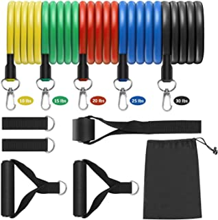 LOSLANDIFEN Resistance Bands Set - 5-Piece Stackable...