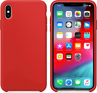 Microsonic 21699 Apple iPhone X Kılıf Liquid Lansman Silikon Kırmızı