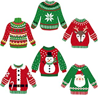 Ugly Sweater Cutouts 30 Count Christmas & Holiday Party Decorations Ugly Sweater Shaped DIY Cut-Outs