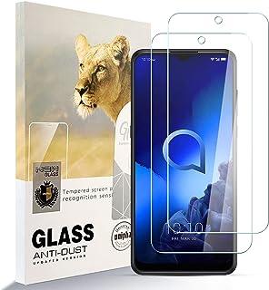 Asoway skärmskydd för ALCATEL 3X 2020 [2-pack] HD härdat glas film antifingeravtryck bubbla fri lätt att installera, 9H hå...