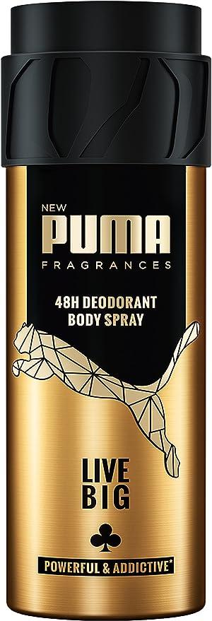 Puma 48h Deodorant Body Spray Live Big Pack of 6 (6x150 ml ...