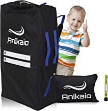Anikaio Gate Check Stroller Bag for Airplane. Stroller Travel Bag, Umbrella and Double Size to Cover and Protect Your Baby Stroller - Extra Durable, Water-Resistant, Compact, Lightweight