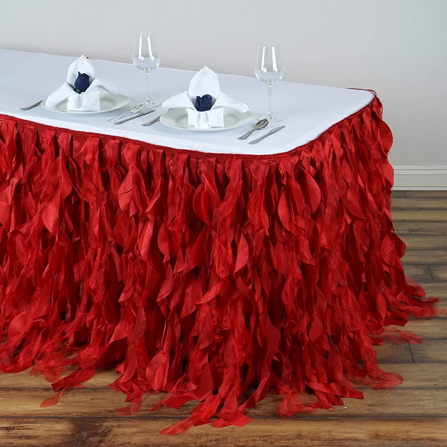 Efavormart 17ft Enchanting Curly Willow Table Max 73% OFF for Skirt Max 62% OFF Taffeta