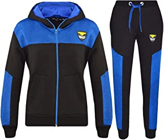 Kids Tracksuit Boys Girls NYC Deluxe Edition Hoodie Bottom Jogging Suit 7-13 Yr