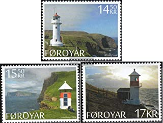 Denmark - Faroe Islands 806-808 (complete.issue.) 2014 Lighthouses (Stamps for collectors) Lighthouses