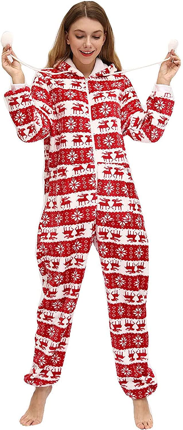 wodceeke Safety and trust Christmas Pajamas for Family Plus Al sold out. Hooded Zipper Womens