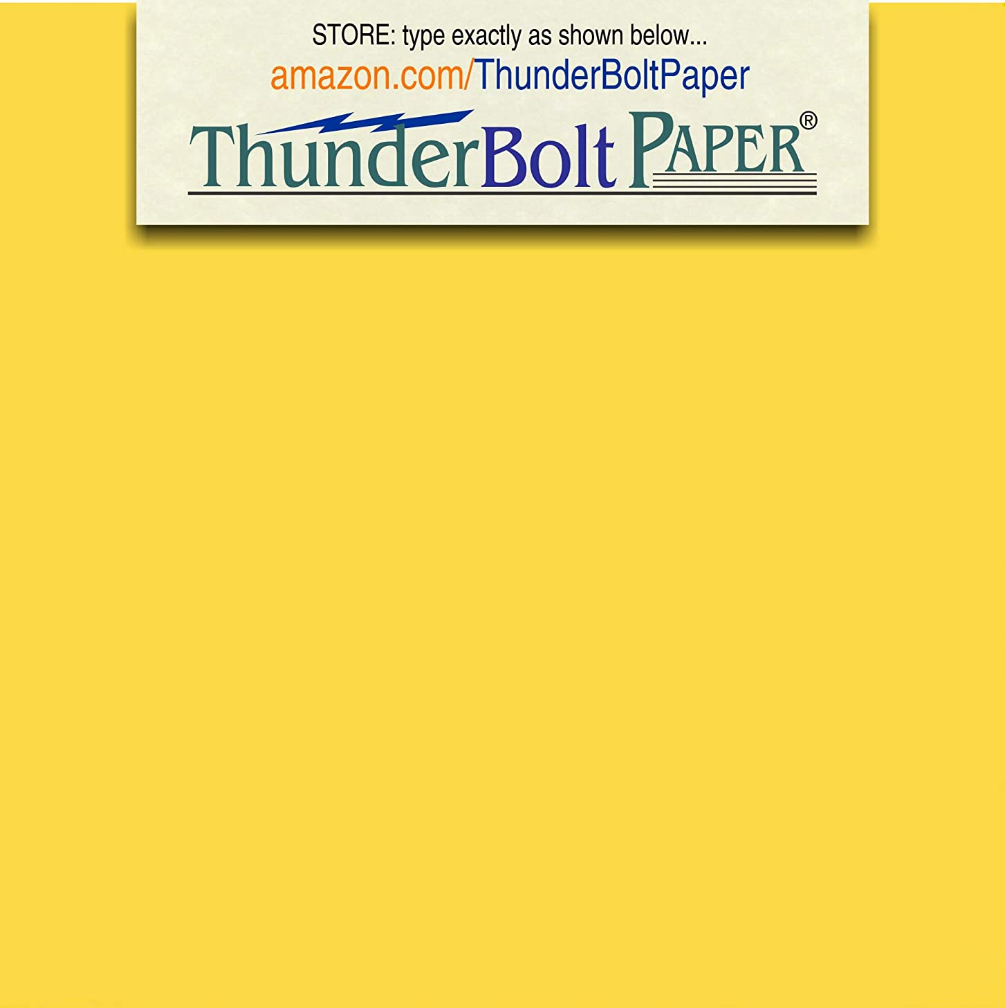 250 Bright Golden Yellow 65lb Cover|Card Paper - 4