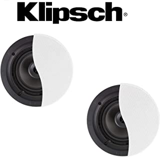 Klipsch (1 Pair) Architectural CDT-2650-C II 50 W RMS Speaker - 2-Way - White Bundle