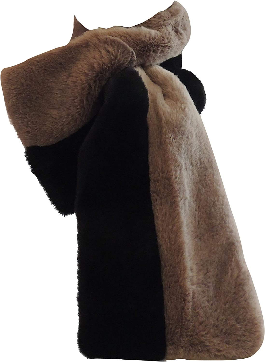 Faux Fur Winter Scarf - Two Neck Adjustable Warmer 5% OFF Soldering Toned Plush
