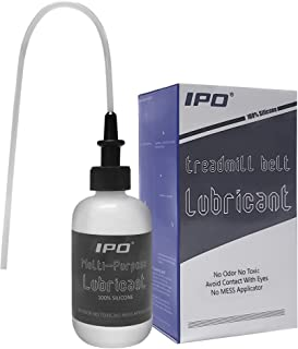 IPO Multi-Purpose Lubricant(4oz Bottle) Treadmill Lube 100% Pure Silicone, Acrylic Pouring Oil with Applicator Tube Easy to Use Squeeze for Bike Chains, Hinges