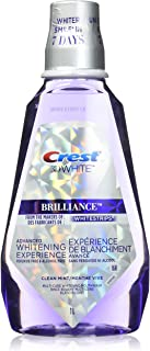 Crest 3D White Brilliance Whitening Mouthwash, Alcohol and Peroxide Free, Clean Mint, 1L