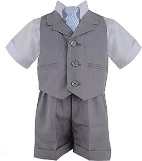 G240 Baby Toddler Boy Summer Suit Vest Short Set
