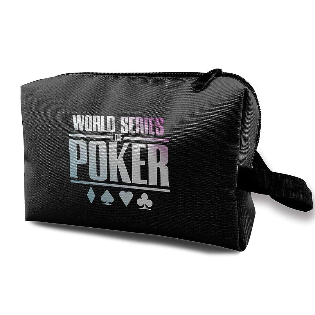日の出昨日比較的World Series Of Poker ゲーム 化粧ポーチ メイクポーチ コスメケース 洗面用具入れ 小物入れ 大容量 化粧品収納 コスメ 出張 海外 旅行バッグ 普段使い 軽量 防水 持ち運び