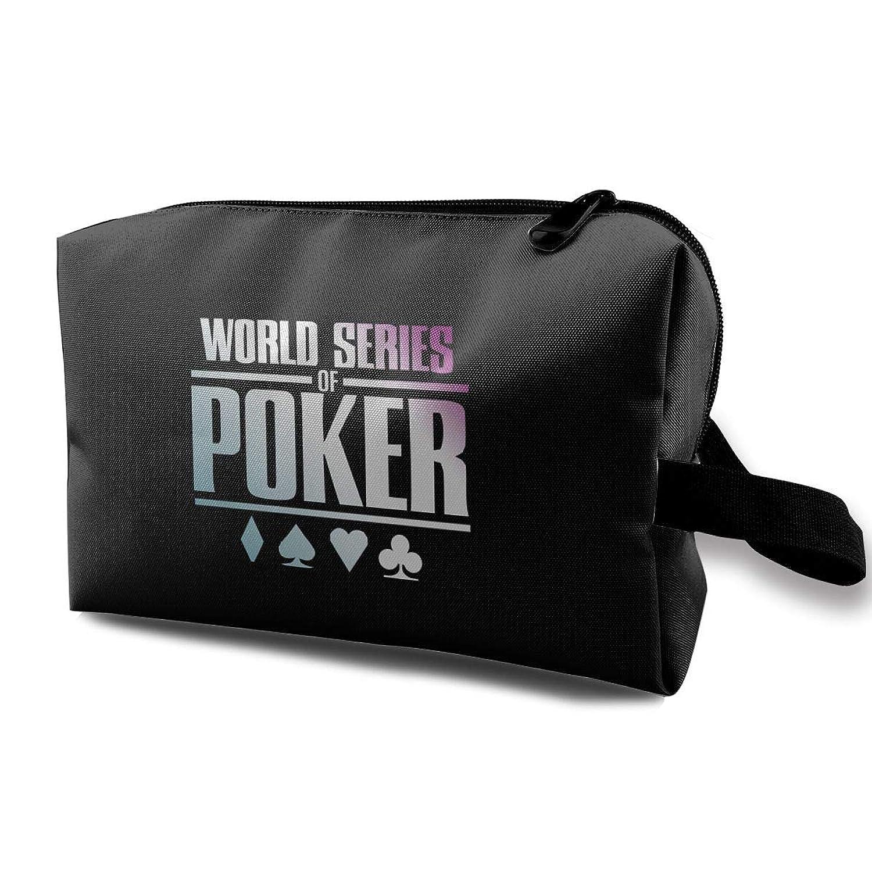 World Series Of Poker ゲーム 化粧ポーチ メイクポーチ コスメケース 洗面用具入れ 小物入れ 大容量 化粧品収納 コスメ 出張 海外 旅行バッグ 普段使い 軽量 防水 持ち運び