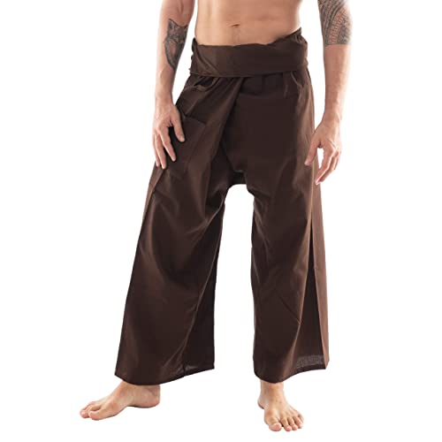 CandyHusky Mens Lightweight Cotton Thai Fisherman Pants Summer Hippie Yoga Pants