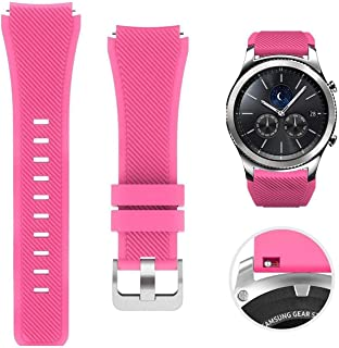 SOLDOUT™ Soft Silicone Watch Band Compatible With Samsung Galaxy Watch 3 46mm Gear S3 Frontier Amazfit Bip/Active Huawei w...