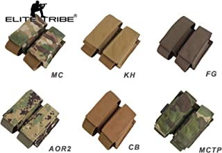 Elite Tribe LBT Style 40mm Double Pouch Molle Hunting Military Airsoft Pouch Multicam