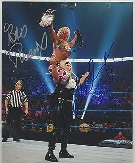 Natalya & Beth Phoenix Signed WWE Diva's Champion 8x10 Photo - Autographed Wrestling Photos