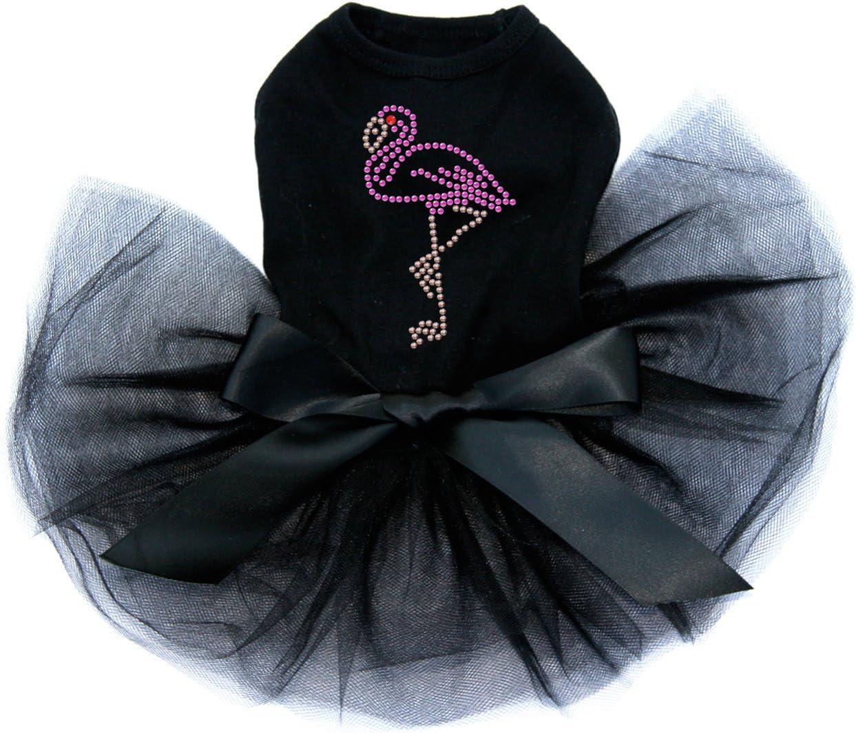 Direct stock discount Pink Flamingo - Small Bling Rhinestone Dress M Dog Black Max 41% OFF Tutu