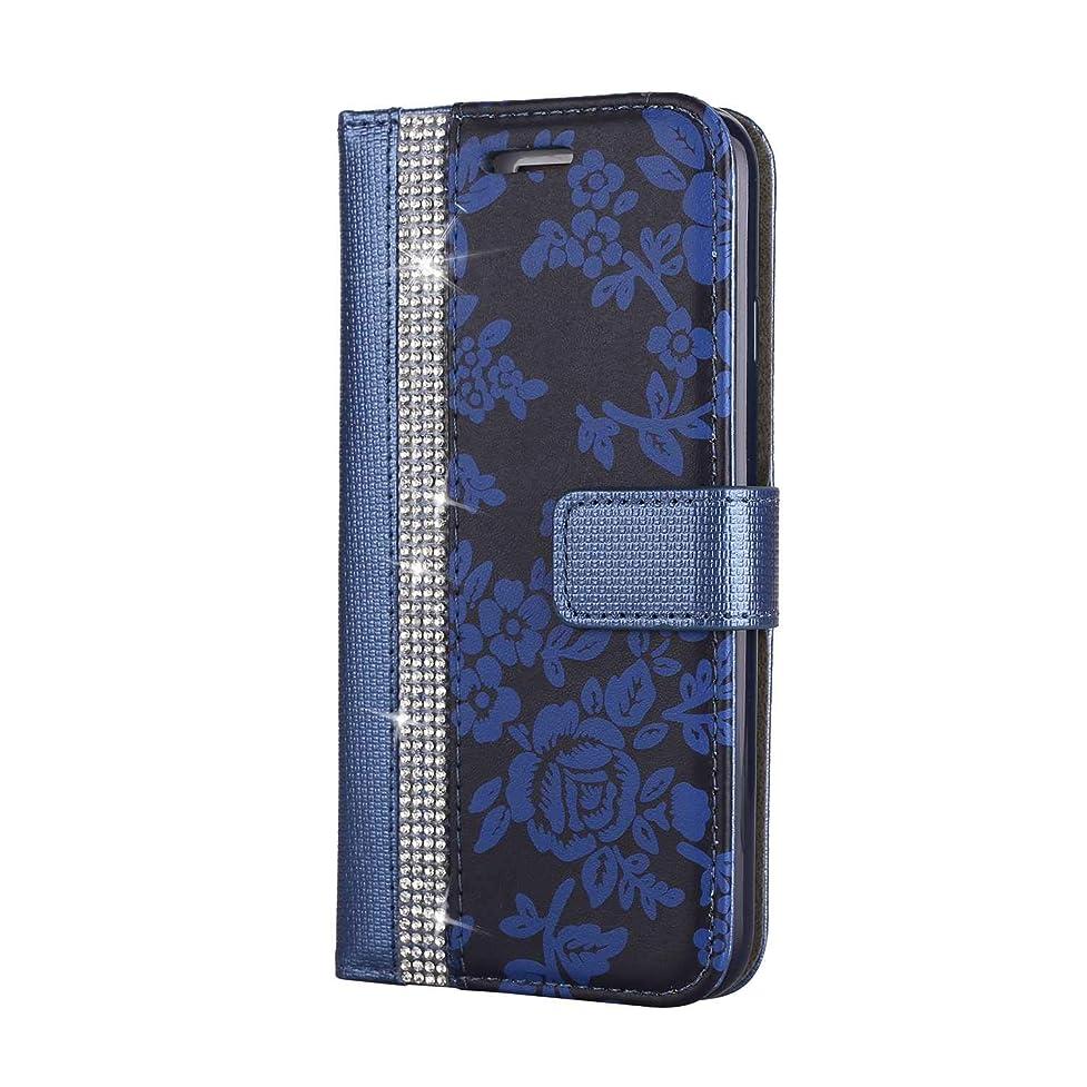 ピービッシュ最高前投薬CUNUS iPhone 7 / iPhone 8 用 ウォレット ケース, プレミアム PUレザー 全面保護 ケース 耐衝撃 スタンド機能 耐汚れ カード収納 カバー, ブルー