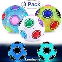 3 بسته اسباب بازی های پازل جادویی توپ توپ بازی مورد علاقه کودکان و نوجوانان هدایای تولد بزرگسالان ، اسباب بازی های درخشان اسباب بازی های حسی ، استرس و اضطراب را تسکین می دهند.